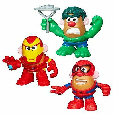 Marvel Playskool Mr. Potato Head Mixable Mashable Heroes Hulk Spiderman Ironman