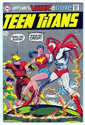 DC Comics Teen Titans Volume 1 #21 June 1969 Hawk Dove FN-VF 7.0 Adams LI-01