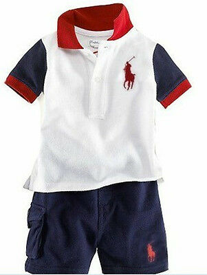 Toddler Kids Baby Boys Short Sleeve Shirt Tops + Shorts Summer Clothes Outfits