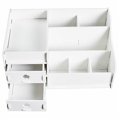 Makeup Storage Case Cosmetic Holder Perfume Jewellery Organiser Box Drawer White