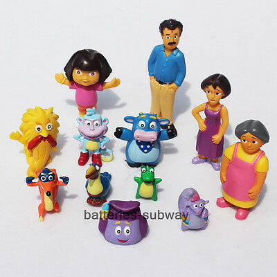 Lot 12 pcs/set  New Dora the Explorer Boots Monkey PVC Action Figure Toy Gift
