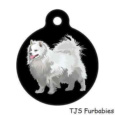 American Eskimo Back Personalized for you-Pet ID Tag for Dog & Cat Collars