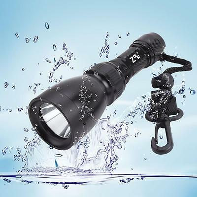 Waterproof IPX7 2000Lm Cree XML-L2 LED Underwater Diving Torch Flashlight