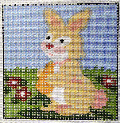 Bunny Rabbit – easy-to-do beginners tapestry canvas