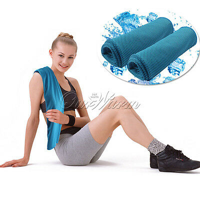 Cold Towel Sports Exercise Sweat Gym Towel PVA Hypothermia Cooling Towel Blue