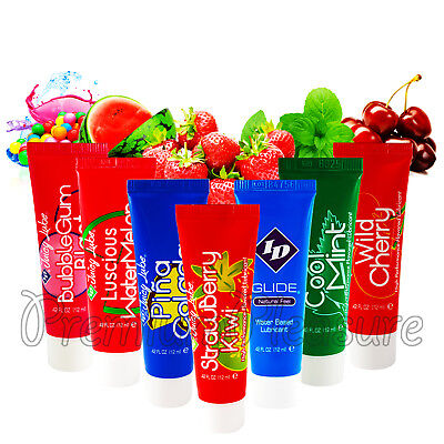 ID Juicy Lube Water based lubricant tube*Strawberry Pina Colada Cherry Bubblegum