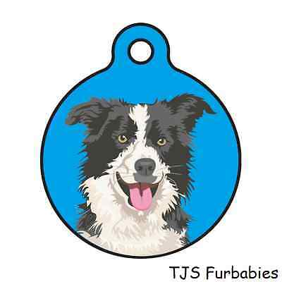 Border Collie-Personalized Back of Tag Pet ID Tag for Dog & Cat Collars Harness