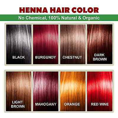 Henna Hair Color – 100% Organic and Chemical Free Henna for Hair Color Hair Care