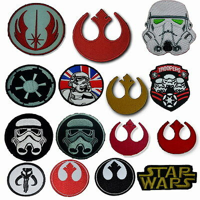 STAR WARS MOVIE Collection embroidered badge PatchES IRON ON SEW ON