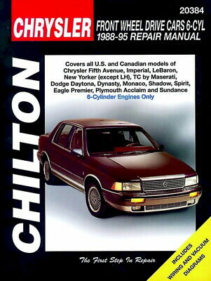 Chrysler FWD Cars 6 Cyl 1988-95 Chilton Repair / Workshop Manual - 20384