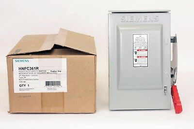 Siemens HNFC361R  30 Amp, 600V, Type 3R, Non-Fusible Disconnect Switch