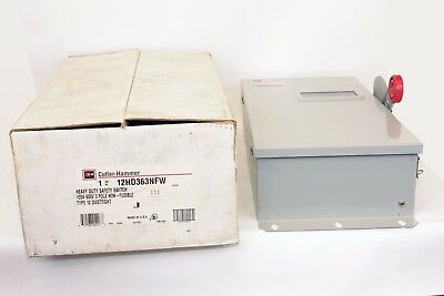 Cutler Hammer 12HD363NFW 100A, 3P, 600V, EEMAC 12, Dust Tite, Non-Fusible Switch