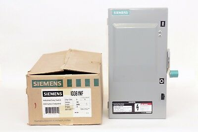 Siemens 1D361NF  30 Amp, 600V, Type 1, Non-Fusible Disconnect Switch