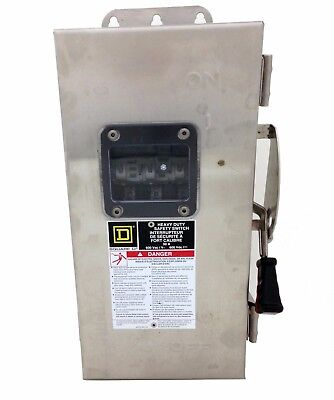 Square D CHU361DS  30A, 600V, Non Fusible Switch, Stainless Steel