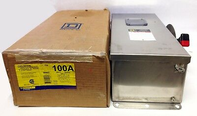 Square D CHU363DS  100A, 600V, Non-Fusible, Type 3_3R_4_4X, Stainless Steel