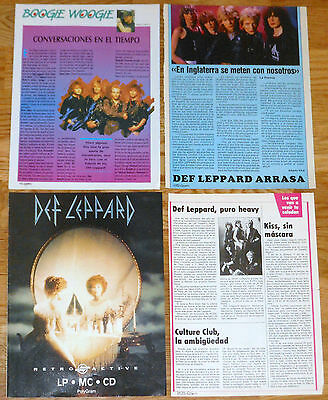 DEF LEPPARD spanish 1980s clippings magazine articles photos heavy