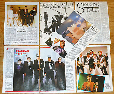 SPANDAU BALLET 1980s spanish clippings magazine articles photos