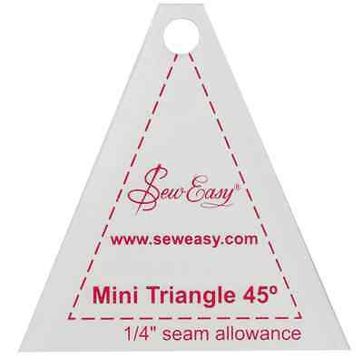 Sew Easy Mini triangle 45 degree patchwork quilting template