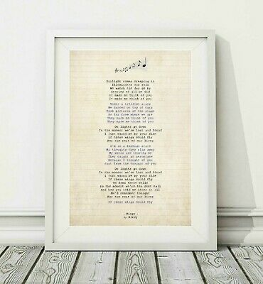 206 Birdy - Wings - Song Lyric Art Poster Print - Sizes A4 A3
