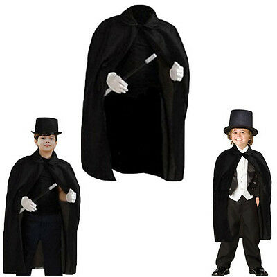"Dazzling Toys 36"" Children's Black Magician Cape Kids Vampire Halloween Costume"