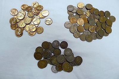 Small Cent Estate Lot Of 50 Coins! Indian, Wheat, Memorial! See Description!