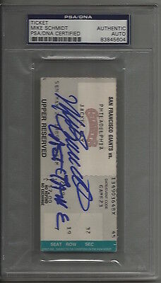 1989 Mike Schmidt signed Final Game ticket stub - PSA/DNA Certified Authentic