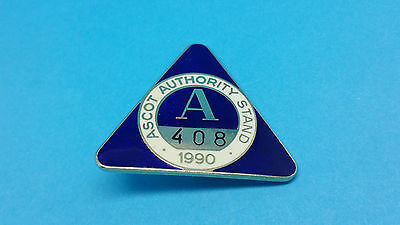 Ascot Horse Racing Authority Stand Badge - 1990