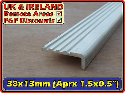 Aluminium Stair Nosing (angle L section h duty edge)| 38mm ( 40mm  3mm) | metre+