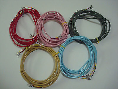 Antique telephone line cords for Princess Telephones 500 phones Western Electric
