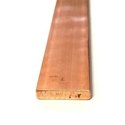 "Copper Flat Bar Stock 1/4"" x 1"" x 6""- Knife making, hobby, craft, C110- 1 Bar"