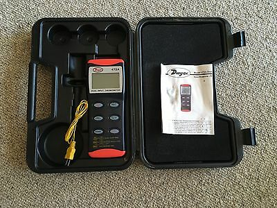 Dwyer 472 A, Dual Input, Thermocouple Thermometer