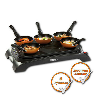 PARTY Wok Set + 6 Wok pans Mini Wok + Pancakes Maker Tabletop grill Wok pan