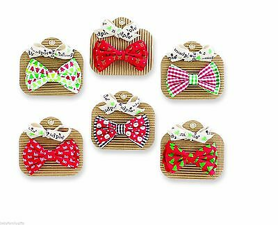 Mud Pie MH5 Christmas Holiday Best Baby Boy Bow Ties – Various Styles 1582118