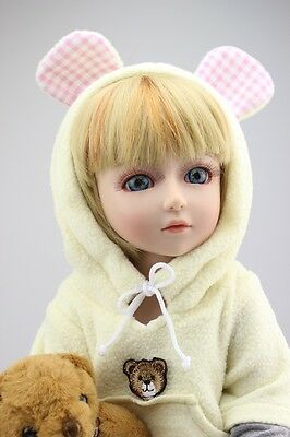 New 1/4 Handmade PVC BJD MSD Lifelike Doll Joint Dolls Baby Toy New Renata Gift