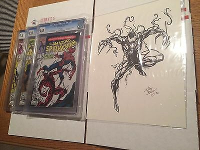 Amazing Spiderman 361 362 363 CGC 9.8 + Carnage Original Art - Mark Bagley