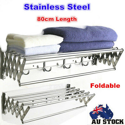 Folding Stainless Steel Clothes Airer Drying Rack Garment Hanger Dryer Holder