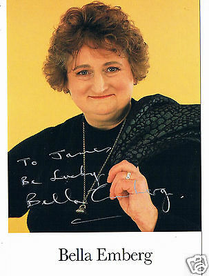 Bella Emberg Television actress  Hand Signed Photograph 6 x 4