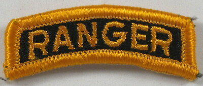 Us Army Full Color Ranger Tab Black & Yellow