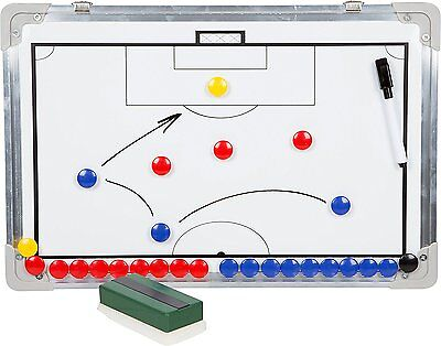 Soccer Coaching Board Magnet with Marker Pieces Training Strategies Plays NEW