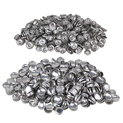 500pcs 24L Metal Fabric Covered Buttons Aluminum Flatback Self Cover Buttons