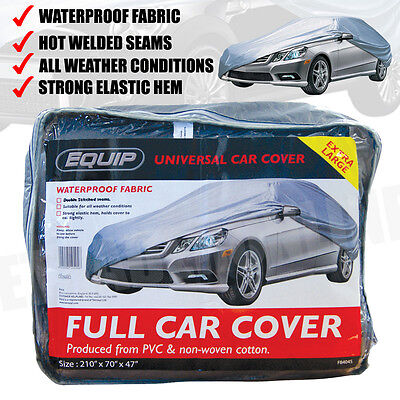 X Large Full Car Cover UV Protection Waterproof Outdoor Indoor Universal Silver