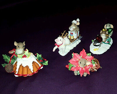 Charming Tails - lot of 4 Christmas- Fitz and Floyd - MIB