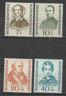 West Germany 1955 Relief Fund Set Mnh **