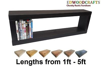 Rectangle Shelves Floating Wall Rustic Cube Storage Solid Pine Rustic 6x2RS.
