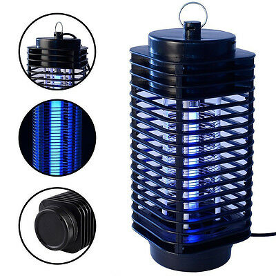 220V Electric Mosquito Fly Bug Insect Zapper Killer With Trap Lamp Black