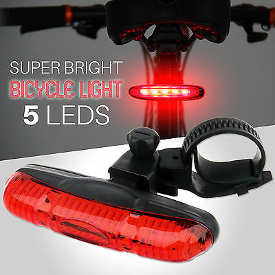 Waterproof Bike Bicycle Cycle Rear Back TAIL LIGHT LAMP 5 Super Bright LED New