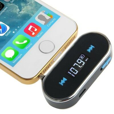ELETTRONICA Black 3.5mm Jack FM Transmitter, For iPhone, Galaxy, Huawei, Xiaomi