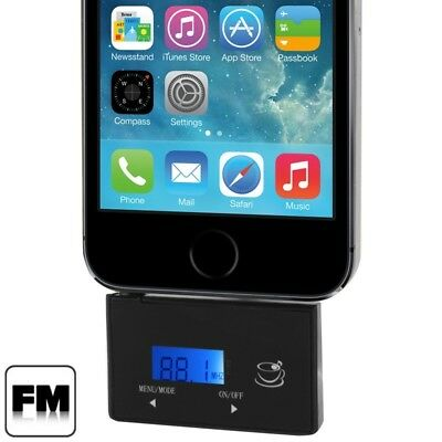 TECH Black 2 in 1 3.5mm Jack Car FM Transmitter / Car Handsfree, For iPhone, Ga