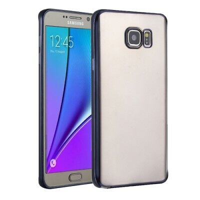 ELETTRONICA Dark Blue For Galaxy S7 / G930 Plating Soft TPU Protective Cover Ca