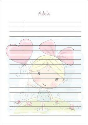 personalised childrens writing paper stationery set with envelopes